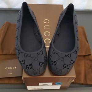 Gucci Rubber Ballet Flats